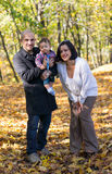 Autumn family Stock Photography