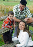 Autumn Family Portrait. A Canadian family portrait taken outdoors in the country during Autumn Stock Images