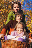 Autumn family portrait Royalty Free Stock Images