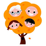 Autumn family tree Royalty Free Stock Photo