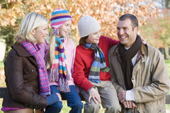 autumn family walk Στοκ Εικόνα