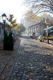 Autumn in the famous bohemian quarter Skadarlija in Belgrade. In the past, the old  bohemian quarter Skadarlija in Belgrade was a meeting place of Serbian Stock Photo