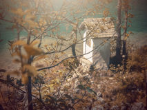 In Autumn.Fantasy fable in Park with Sunrise scene. Fantasy fable scene effects applied.View in the Europe and in the mountain stock photos
