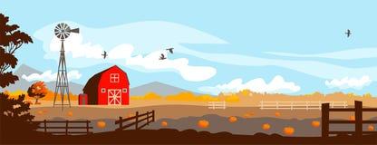 Free Autumn Farm Landscape. Royalty Free Stock Photo - 158849495