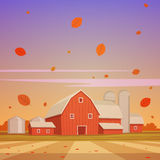 Autumn Farm Landscape Royalty Free Stock Photo