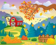 Autumn farm landscape 2 Stock Photos