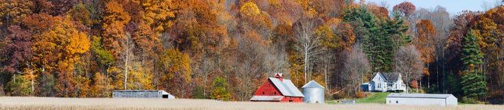 Autumn Farm Panorama Lizenzfreie Stockfotografie