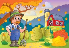 Autumn farm theme 3 Stock Image