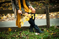 Autumn fashion details Royalty Free Stock Photo