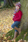 Autumn fashion girl Stock Photography