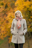 Autumn fashion girl Stock Images
