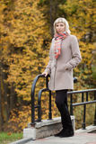 Autumn fashion girl Royalty Free Stock Image