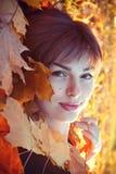 Autumn fashion girl stock image