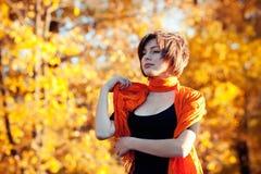 Autumn fashion girl stock photo
