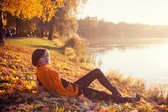 Autumn fashion girl royalty free stock photo