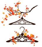 Autumn fashion - hanger design Royalty Free Stock Image