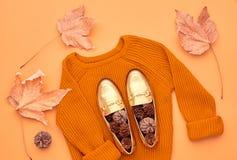 Free Autumn Fashion Lady Clothes Set. Minimal. Vintage Royalty Free Stock Photography - 106259577