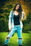 Autumn fashion look Stock Photography