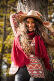 Autumn fashion look Stock Images