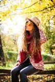 Autumn fashion look Stock Photos