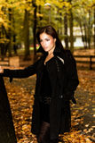 Autumn fashion portrait Royalty Free Stock Photo