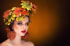 Autumn fashion portrait vintage toning Stock Image