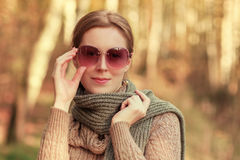 Autumn fashion portrait Stock Photo