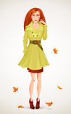 Autumn fashion woman Royalty Free Stock Photography