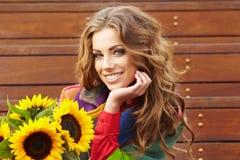 Autumn fashion woman Royalty Free Stock Photos