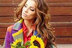 Autumn fashion woman Royalty Free Stock Images