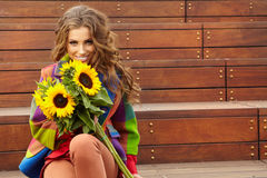 Autumn fashion woman Royalty Free Stock Images