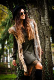 Autumn fashion woman outdoor Royalty Free Stock Images