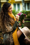 Autumn fashion woman outdoor Royalty Free Stock Photos