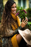 Autumn fashion woman outdoor Royalty Free Stock Photo