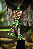 Autumn fashion woman outdoor Royalty Free Stock Photo