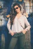Autumn fashion woman Stock Photos