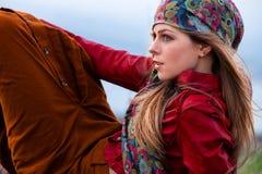Autumn fashion woman Stock Image