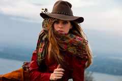 Autumn fashion woman Royalty Free Stock Image