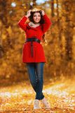 Autumn fashion for women stock photos