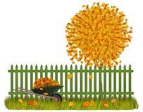 Autumn Fence Arkivfoton