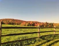 Autumn Fence royalty-vrije stock afbeeldingen