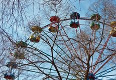 Autumn Ferris Whee Royalty Free Stock Photo