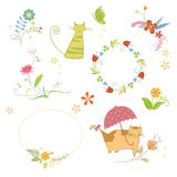 Autumn and festival element Stock Image