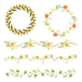 Autumn and festival lace and bouquets Stock Images