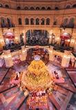 Autumn Festival na GOMA no quadrado vermelho Abóbora e centeio da decoração foto de stock