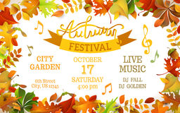 Autumn Festival template. Stock Photo