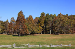 Autumn Field and Split Rail Fence. From the Blue Ridge Parkway in Virginia during the fall season royalty free stock image