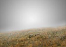 Autumn field during a thunderstorm. Stock Photos