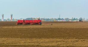 Autumn field work Stock Photo