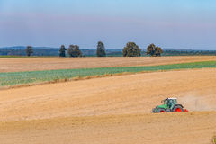 Autumn field works Royalty Free Stock Images
